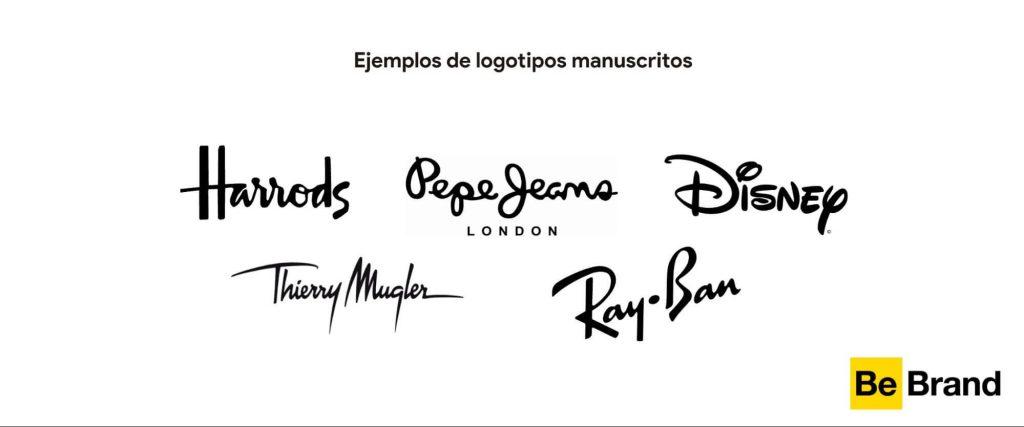 ejemplos de logotipos manuscritos