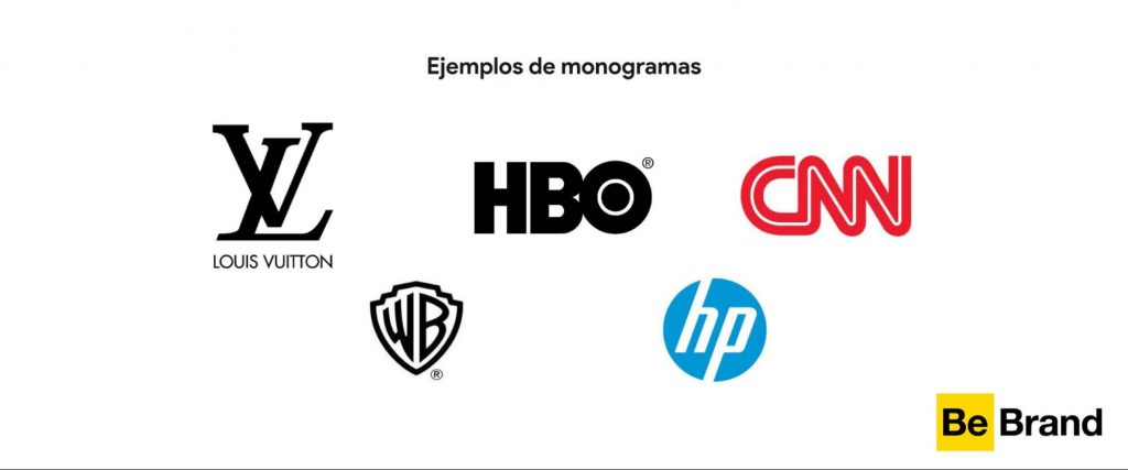 ejemplos de logos monogramas o lettermark