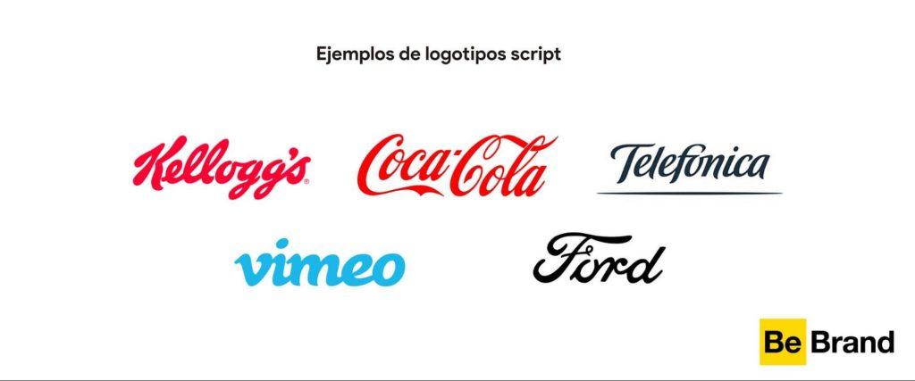 ejemplos de logotipos script