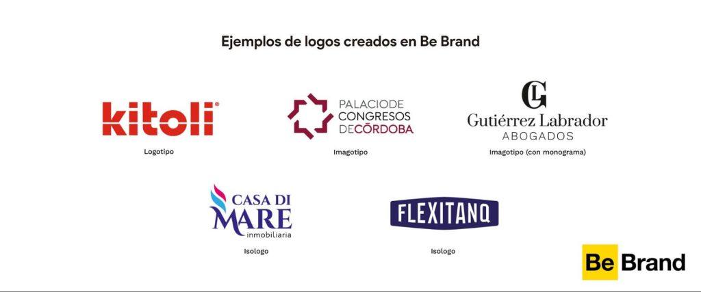 ejemplos de logotipos hechos por BeBrand